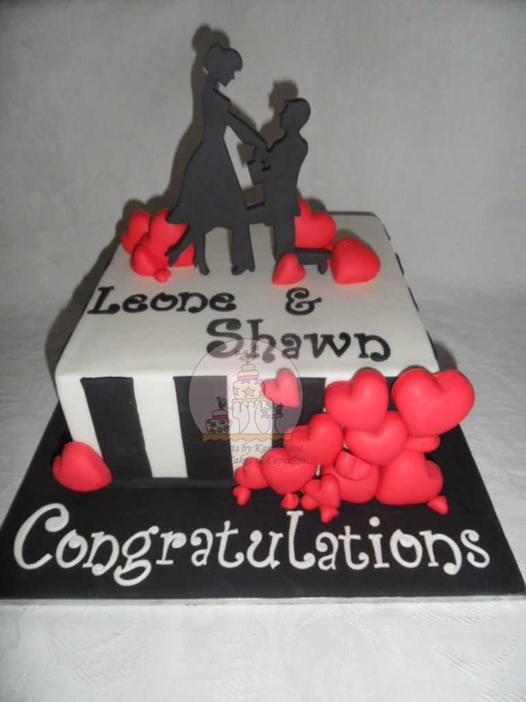 """""""Love is in the Air Proposal"""" Engagement Cake"""