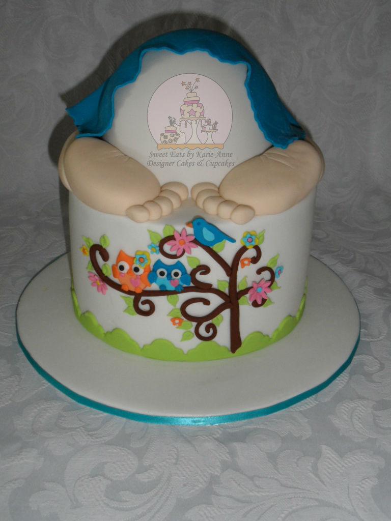 Baby Bum Baby Shower Cake