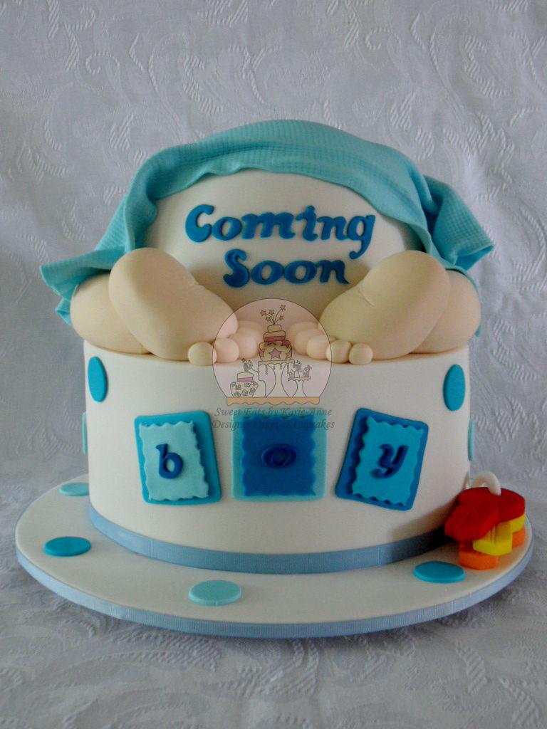 Coming Soon Baby Bum Cake