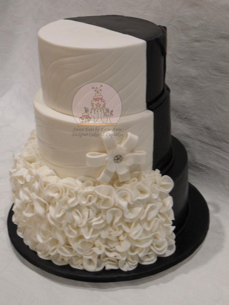 Half & Half Wedding Cake - Front View