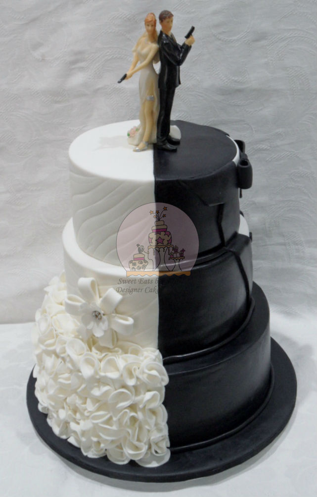 Half & Half Wedding Cake