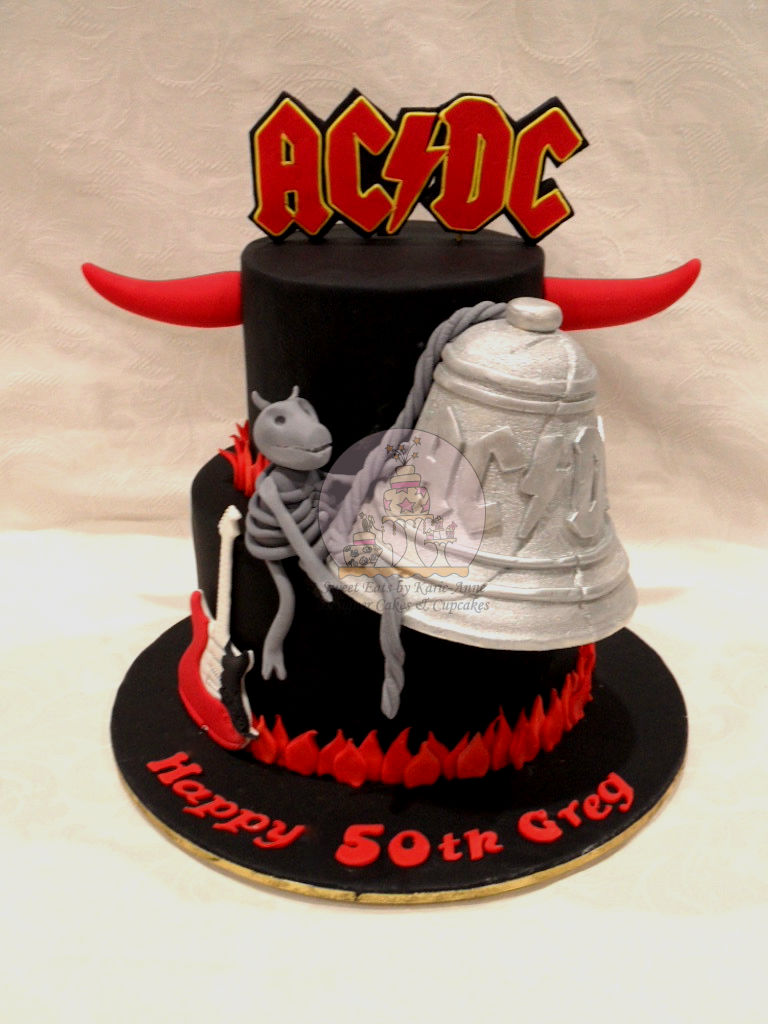 ACDC themed 50th Birthday Cake