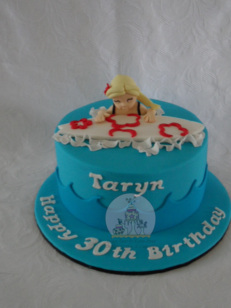 Surfer themed 30th Birthday Cake