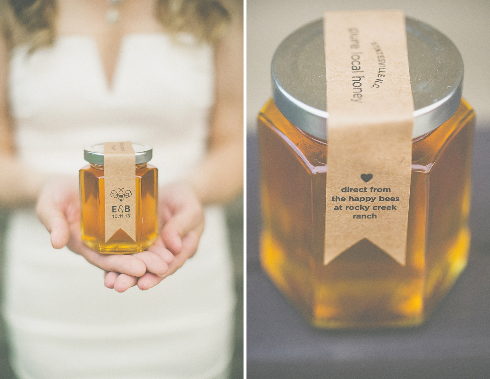 Custom Honey Label - Erica & Bryan 10.11+12.13