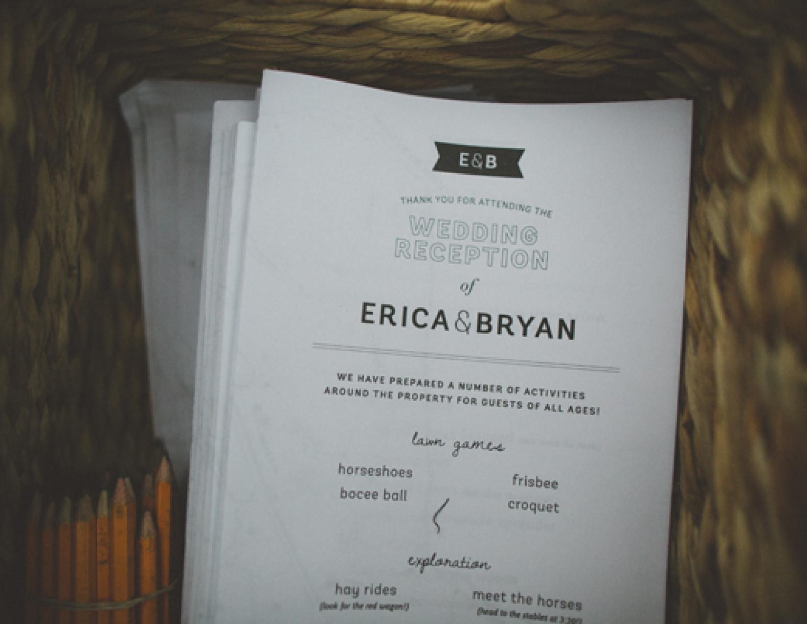 Saturday Program - Erica & Bryan 10.11+12.13