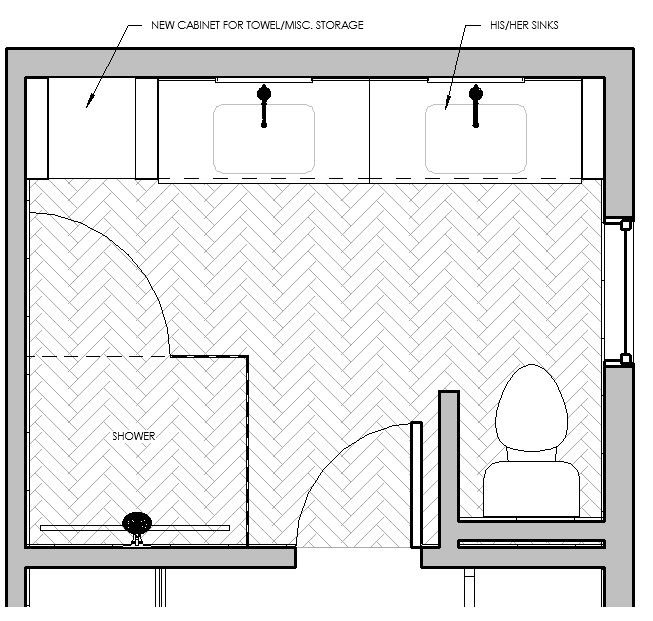 Design and Drawings by  Bee's Knees Interior Design , using  Autodesk Revit .