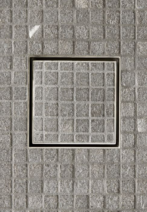 "Universal Tile-in Shower Drain 6"" x 6"" by  Waterworks"