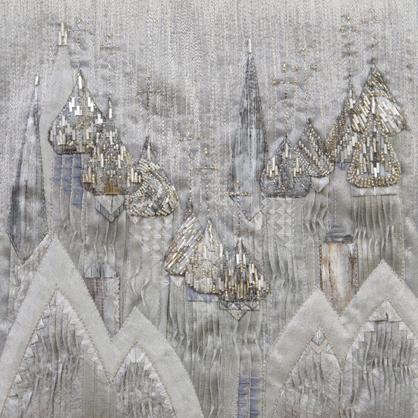 """Silver Domes, 11"""" x 11"""" (framed)"""