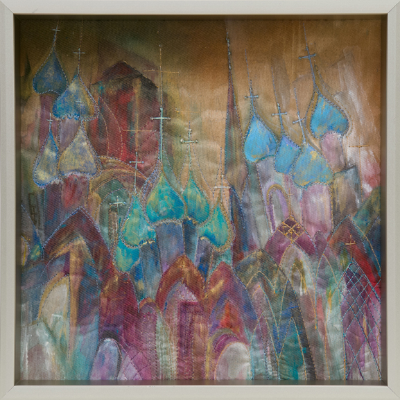 """The Bells of Moscow, 10"""" x 10"""" (framed)"""