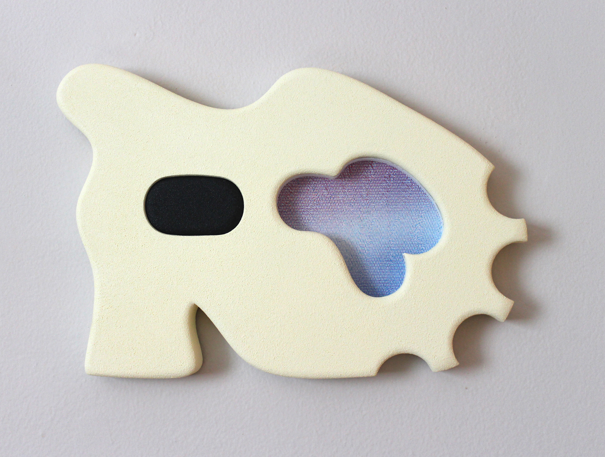 Acrylic, MDF, Plexiglass and Screenprint, 14 3/4 X 10 Inches