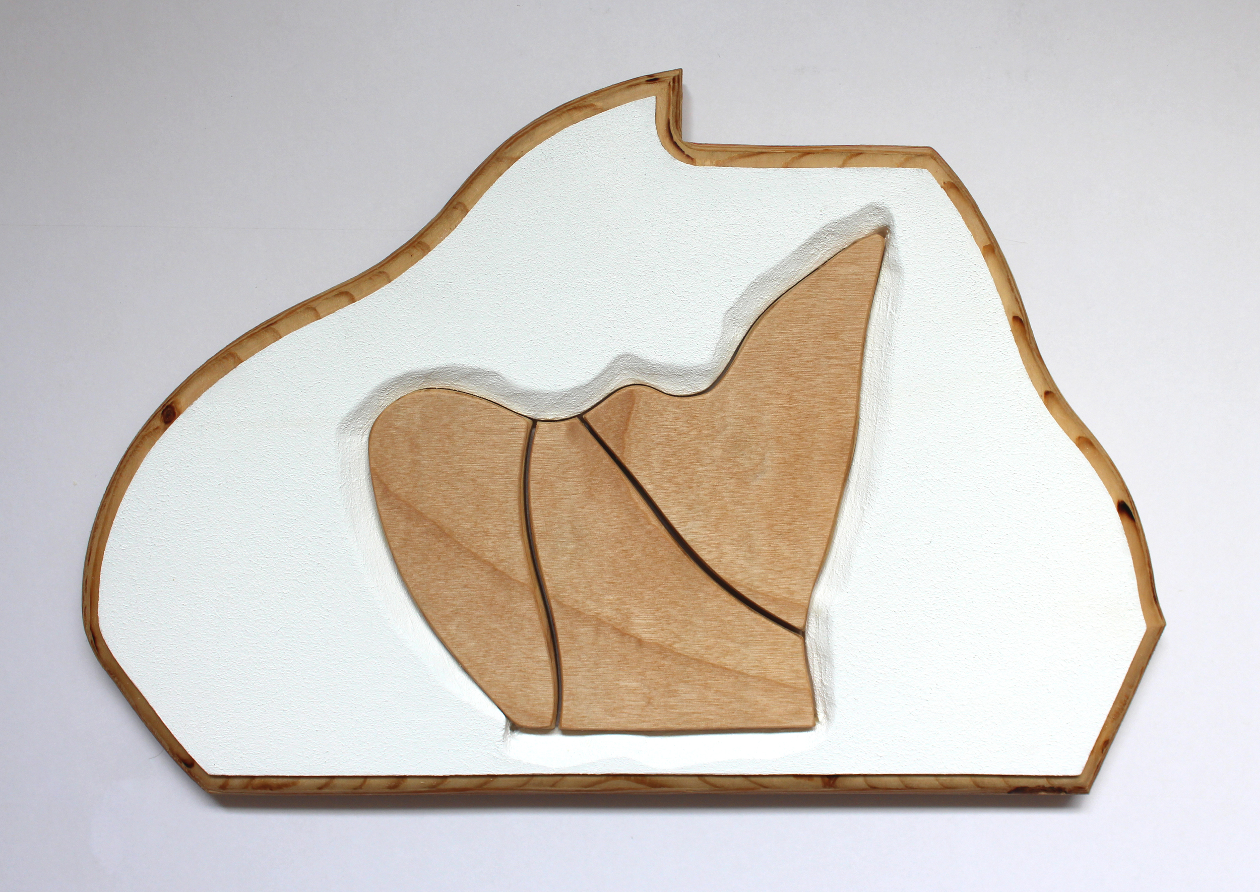 Acrylic, Birch, and Plywood, 14 7/8 X 10 Inches