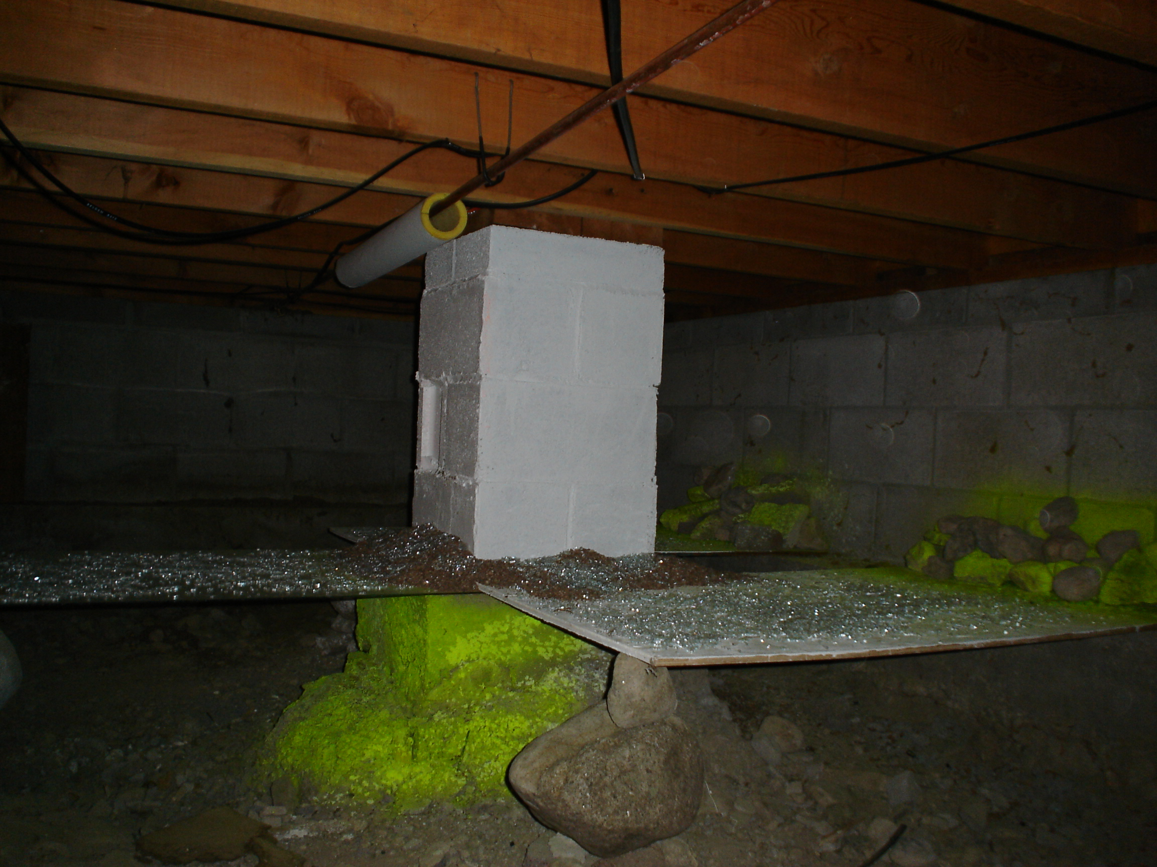 crawl space under apartment in Winter Park Colorado,  2006-07
