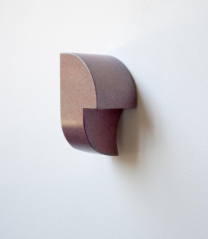acrylic and metal leaf on Poplar, 6 x 3 x 3 inches