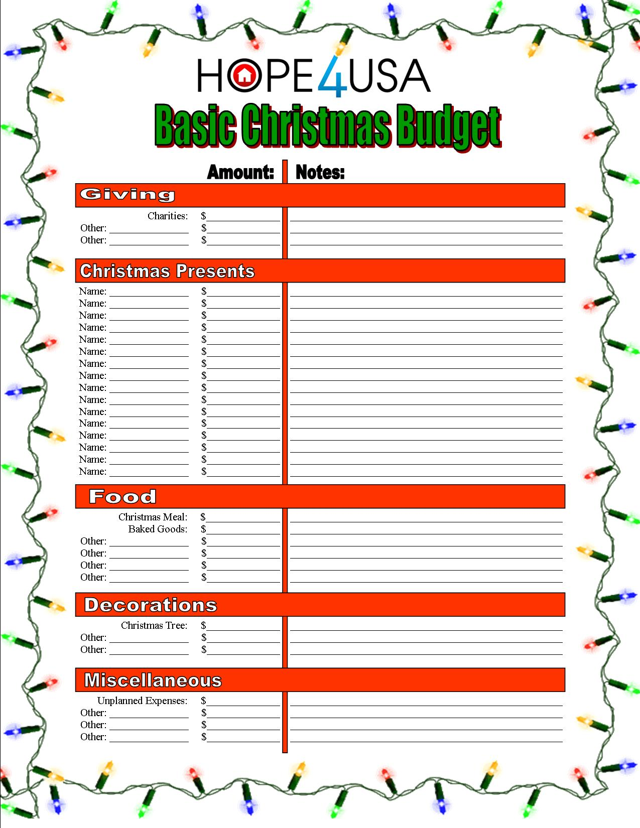 HOPE4USA.com-Christmas-Budget-Guide