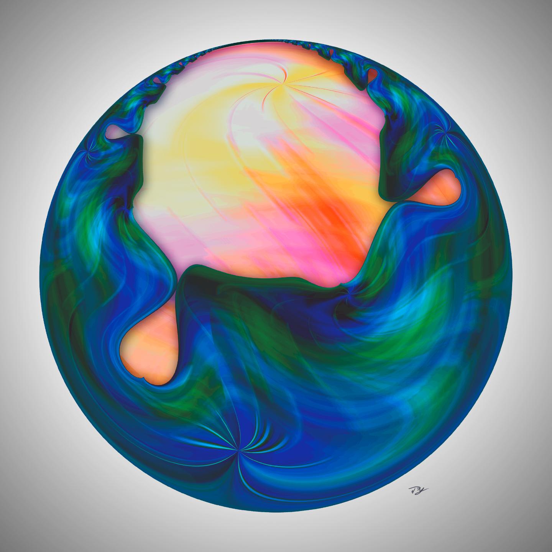 Geometric design made using Adobe Photoshop