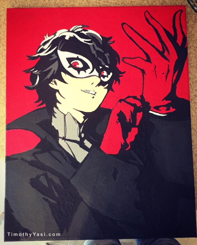 Fan Art of Joker from Persona 5. Acrylics on Canvas