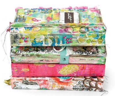 art journaling magazine - cardboard crush project - summer 2015