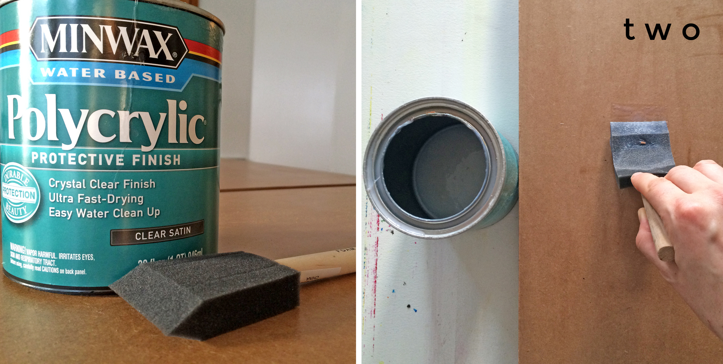 TWO: Coat the MDF with a couple of coats of  shellac or polyacrylic  so that you can wipe paint off and protect the MDF from water damage. It can really soak up water and misshape.