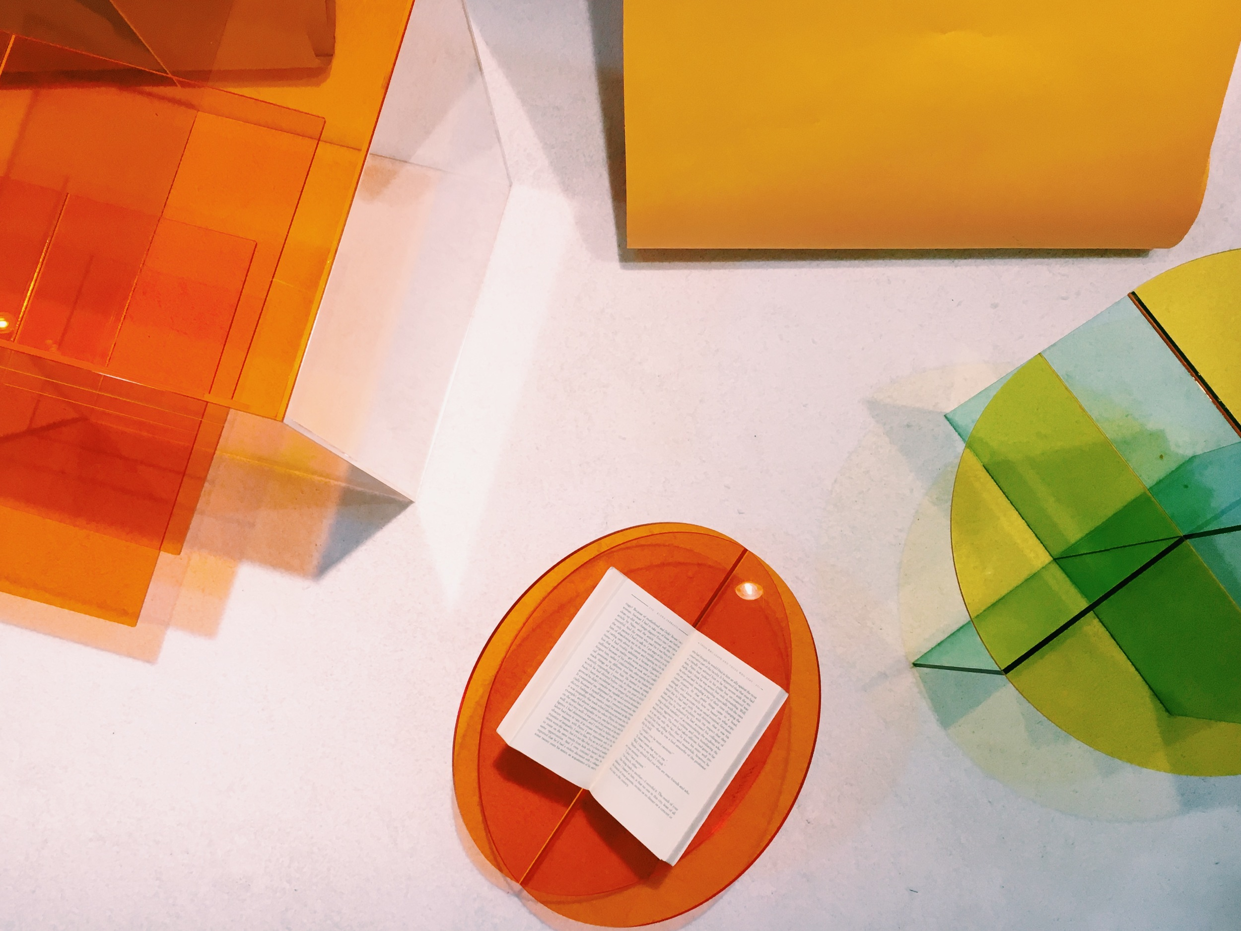 """""""Broken Shapes"""" collection of candy-tinted plexi pieces from LA-based  Nobel Truong"""