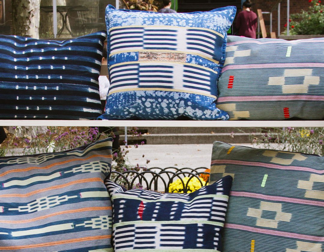 Muffy Brandt  West African fabric cushions