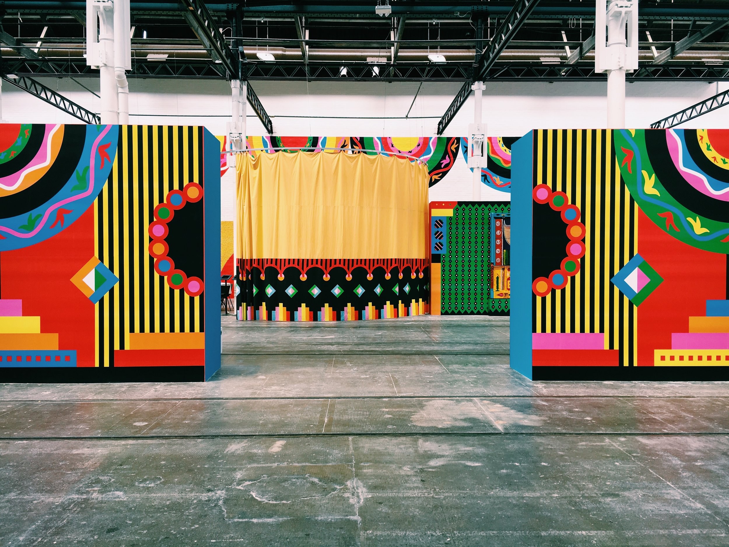 """Gabriella's set design for """"Art From Another India"""" at Tramway"""