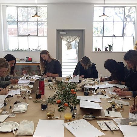 Modern Calligraphy Workshop at Hand Craft Studio School.
