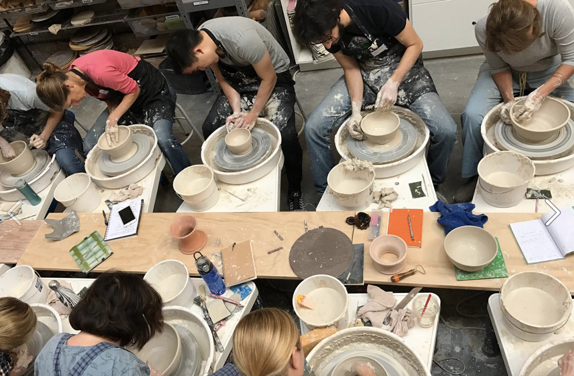 A class at Clay by the Bay.