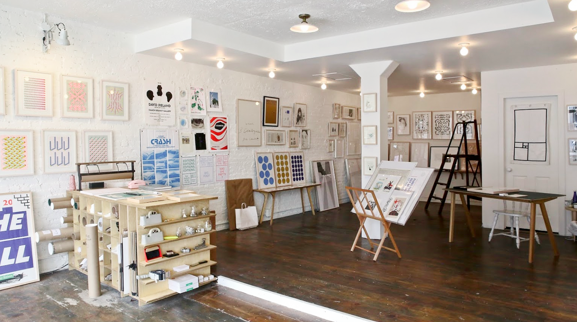 Inside Picture Room's bright Brooklyn store.