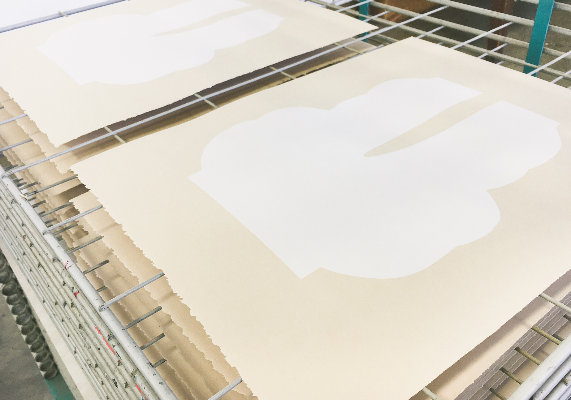 Behind the Scenes of our Alyson Fox screenprints from the Print Club ltd. Journal
