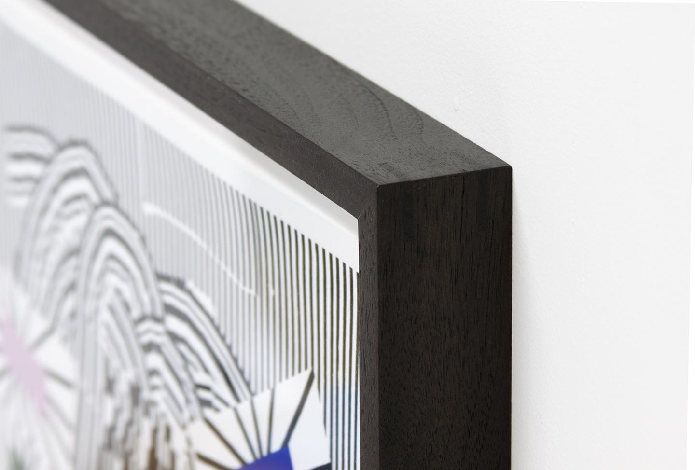 Antonio Carrau. Still Life I, 2018. Silkscreen on paper, edition of 10. Custom Ebonized Walnut frame