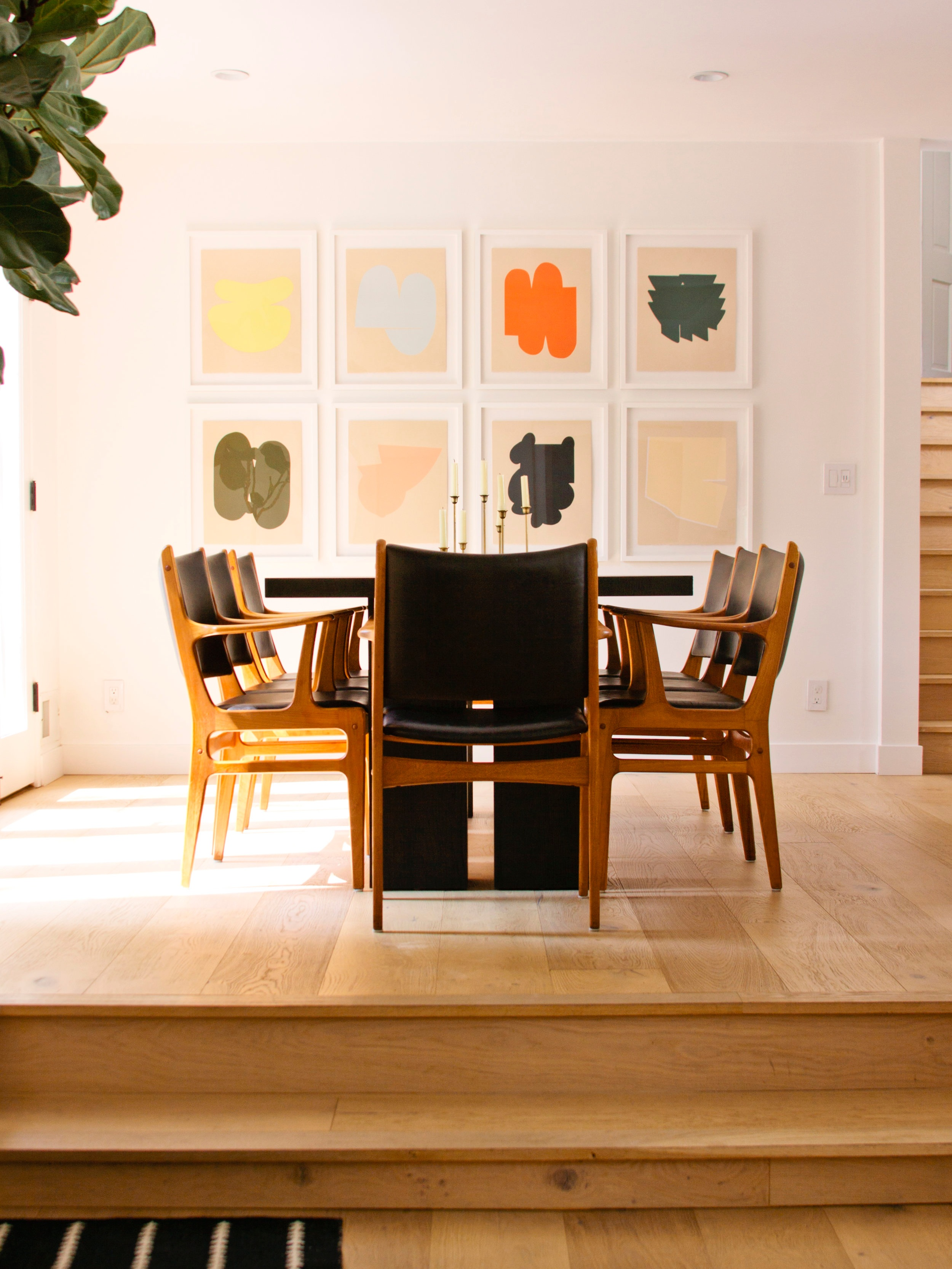 Alyson Fox prints installed in a private residence in Los Angeles.