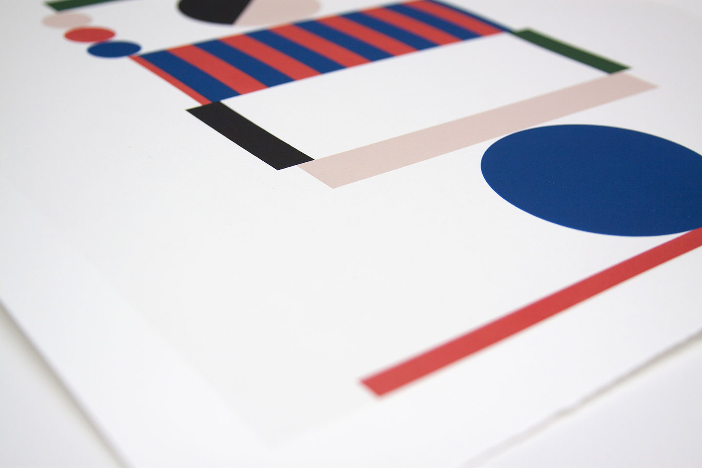 "Stephanie Specht ""Optical Balance II"" limited edition silkscreen print, 2017. Edition of 20"