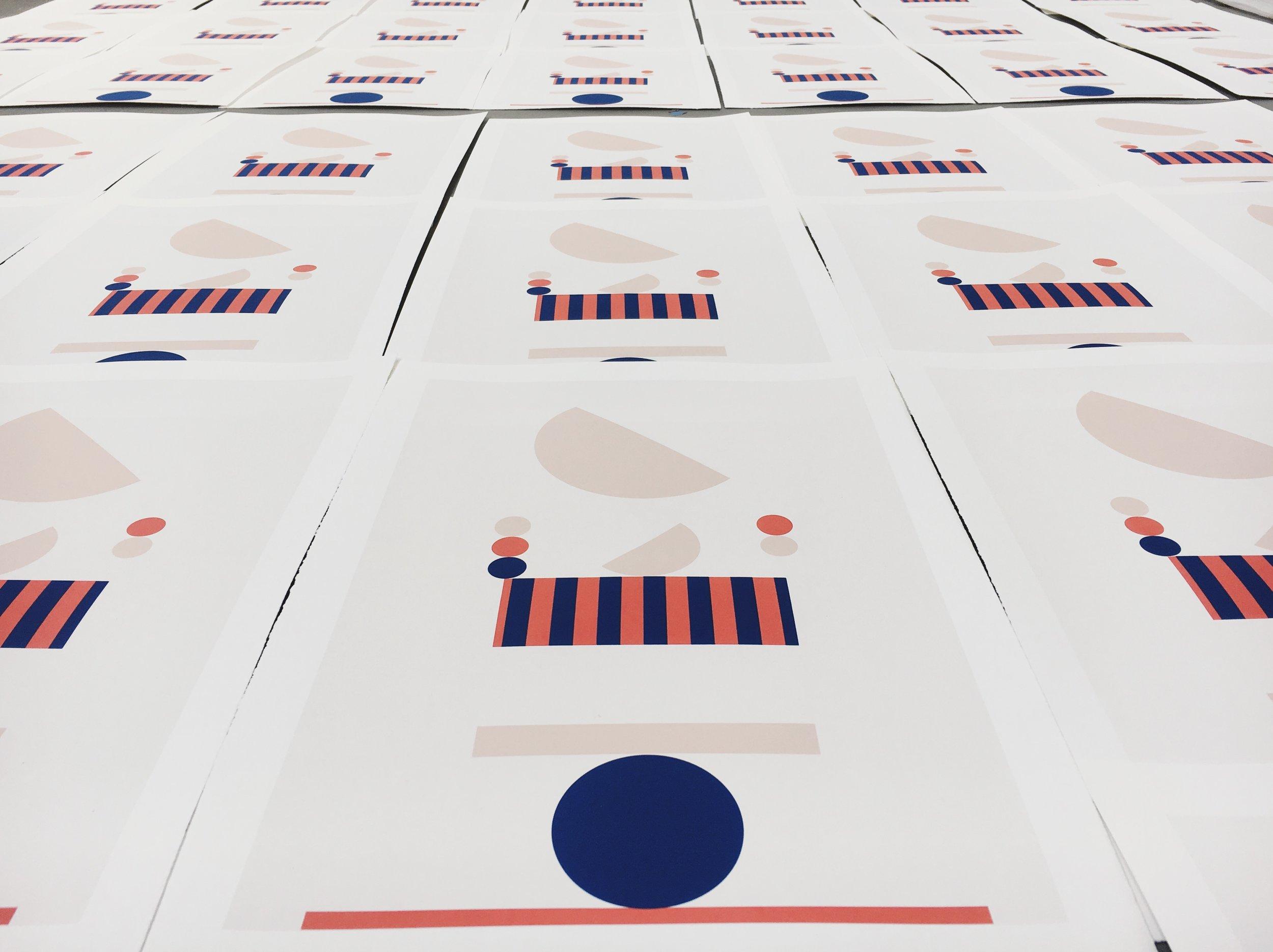 "Stephanie Specht ""Optical Balance II"" limited edition silkscreen print, 2017. Edition of 20."