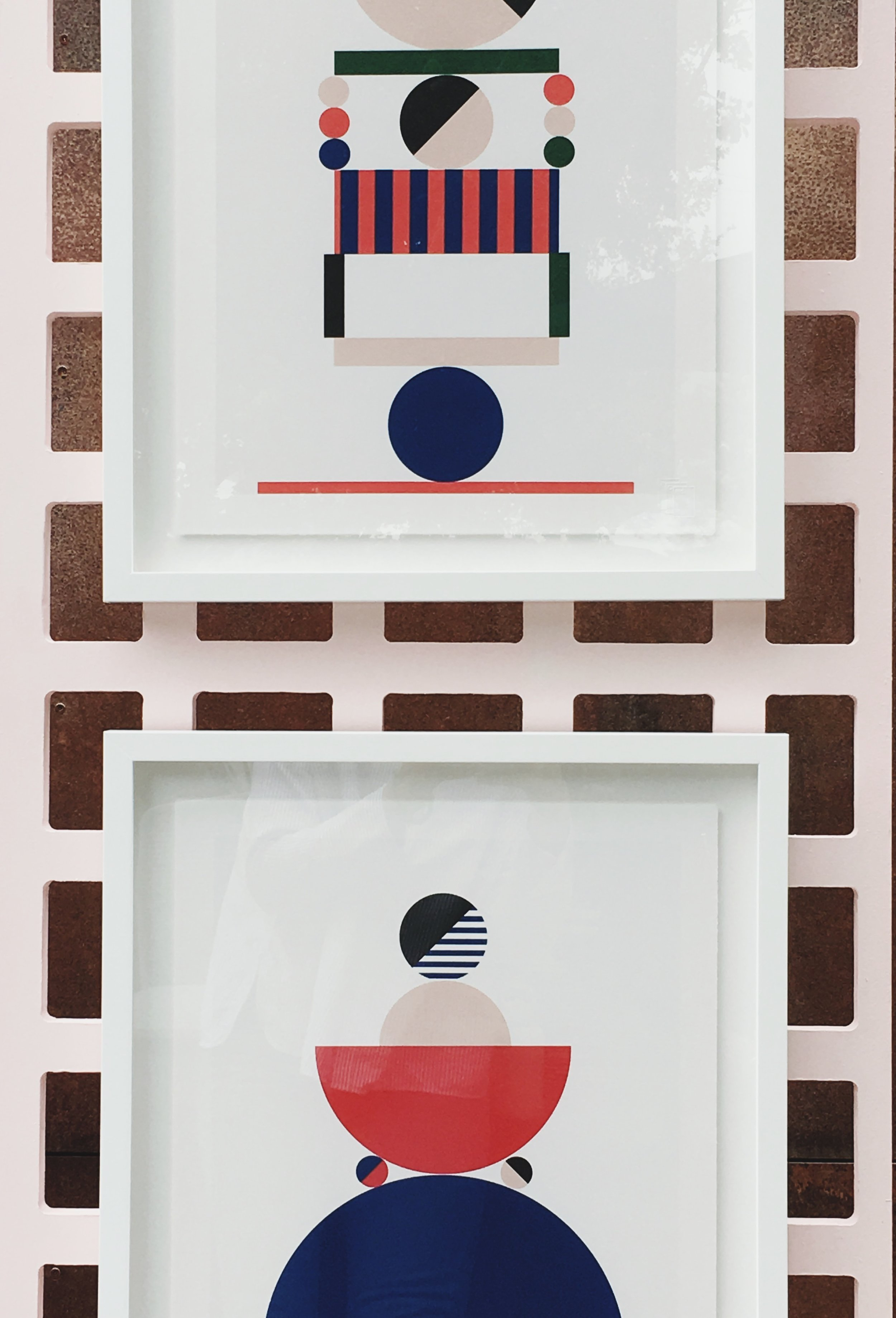 "Stephanie Specht ""Optical Balance II"" limited edition silkscreen print, 2017. Edition of 20. Custom framed"