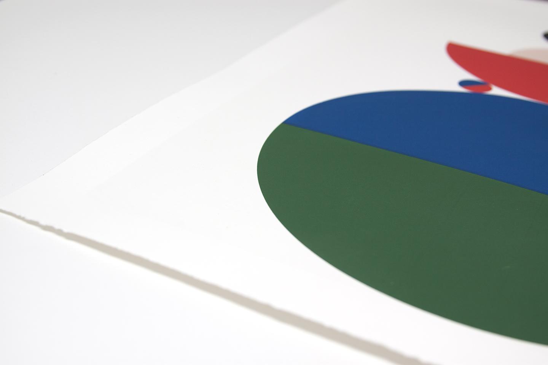 "Stephanie Specht ""Optica Balance I"" limited edition silkscreen print, 2017. Edition of 20"