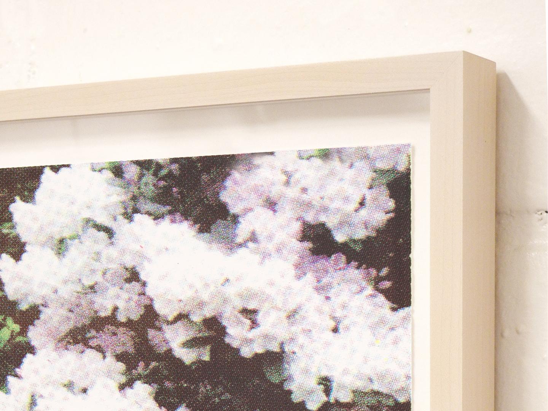 "Print Club Ltd ""Purple White Florals"" limited edition silkscreen print, 2013. Edition of 30. Custom framing (detail)"