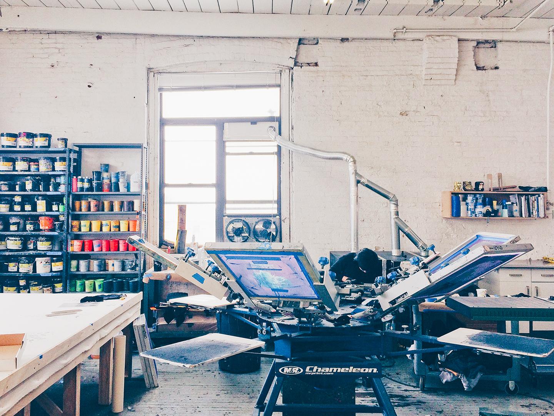 studio visit with kayrock screenprinting on brooklyn from the print club ltd journal