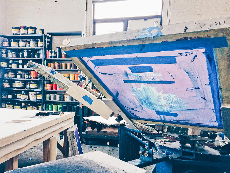 Print Club ltd. visits Kayrock Screenprinting studio in Brooklyn