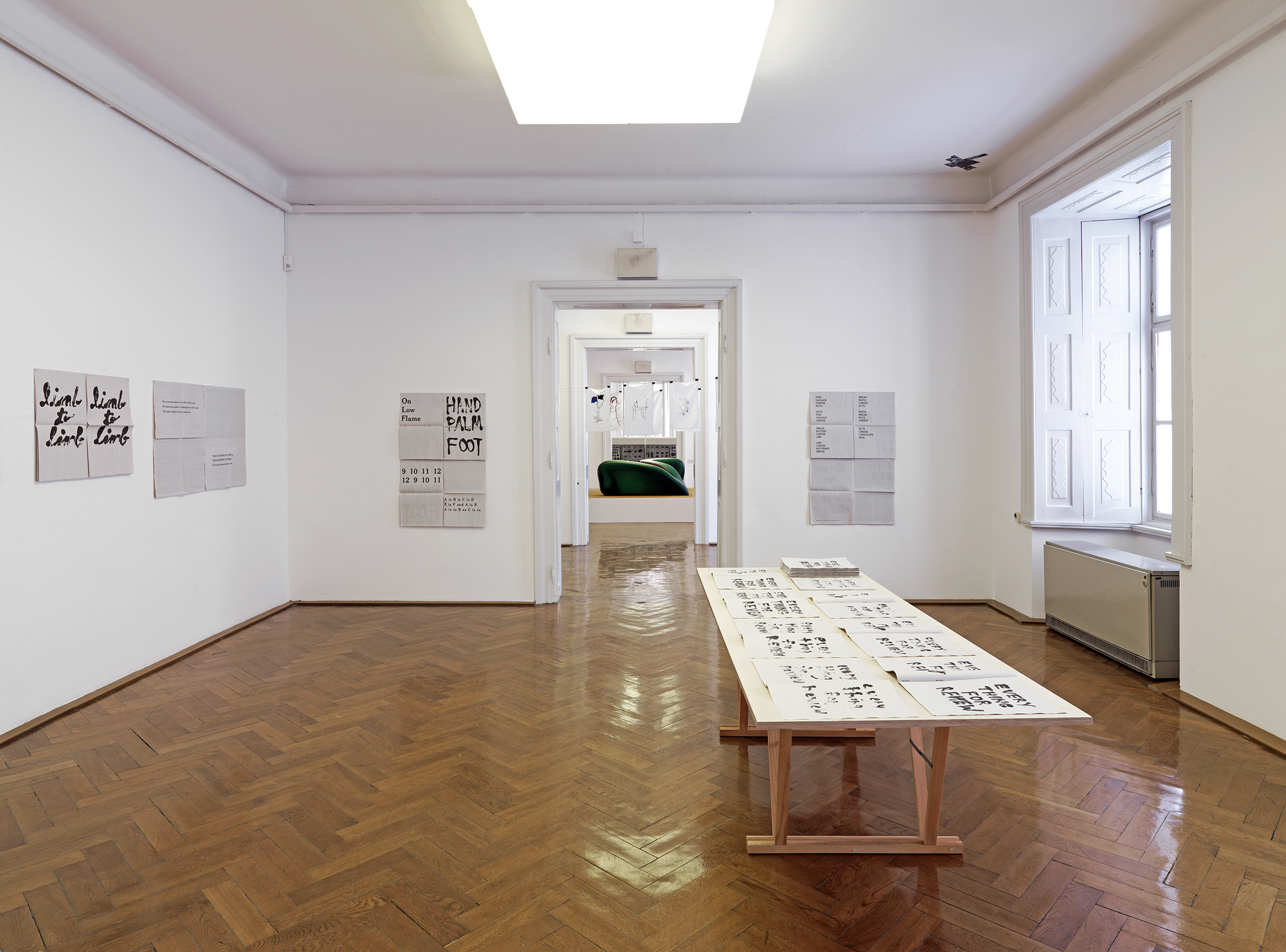 Jennifer Schmidt,  Reviewing the Review, Everything for Review - 2017  .  Installation View. 32. Biennial of Graphic Arts, International Centre for Graphic Arts, Ljubljana, Slovenia.