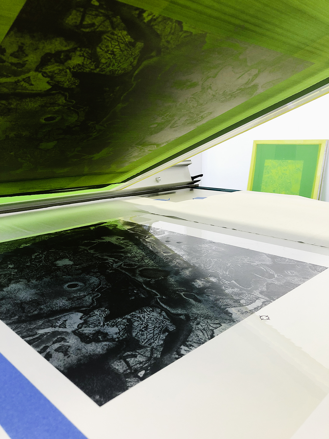 Printing our Jerry Birchfield edition from the Print Club Ltd. Journal