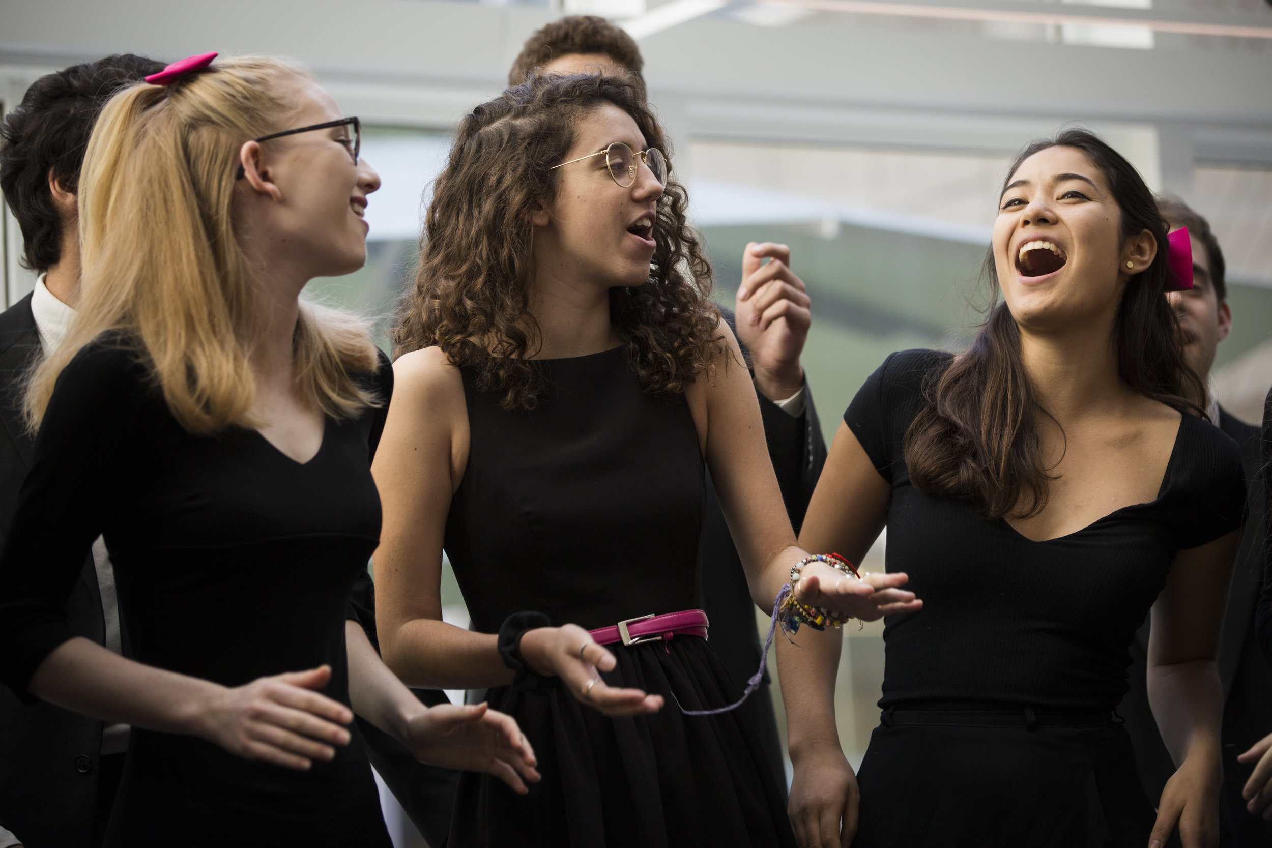 Performing at the opening of Harvard's Pritzker Commons