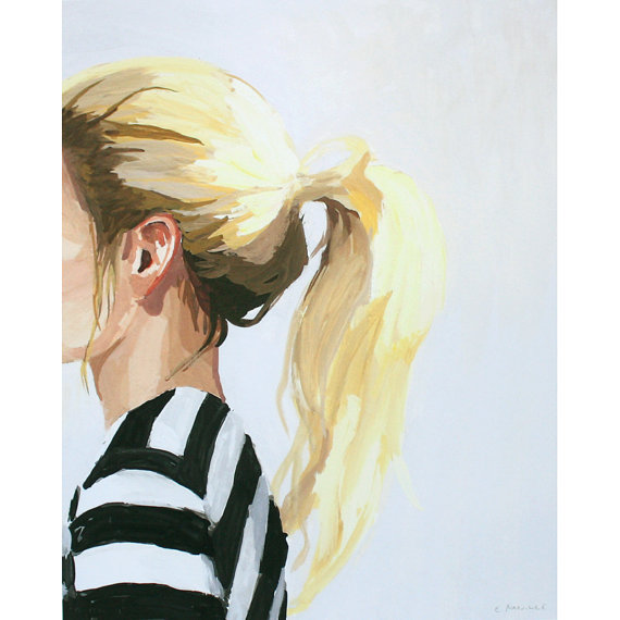 """""""Ponytail 4"""" by the talented Elizabeth Mayville"""