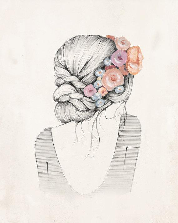 """""""Flowers in her hair"""" by Kelli Murray"""