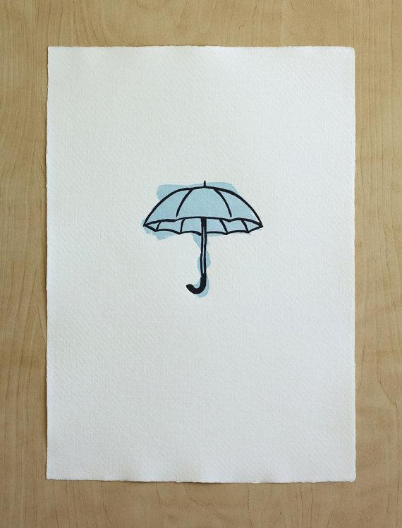 Letterpress Umbrella by Fickle Hill Press