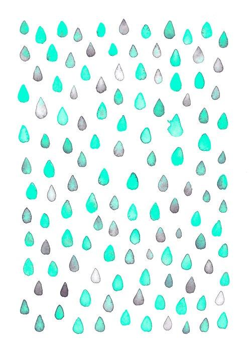 Aqua Rain from the Perky Sloth