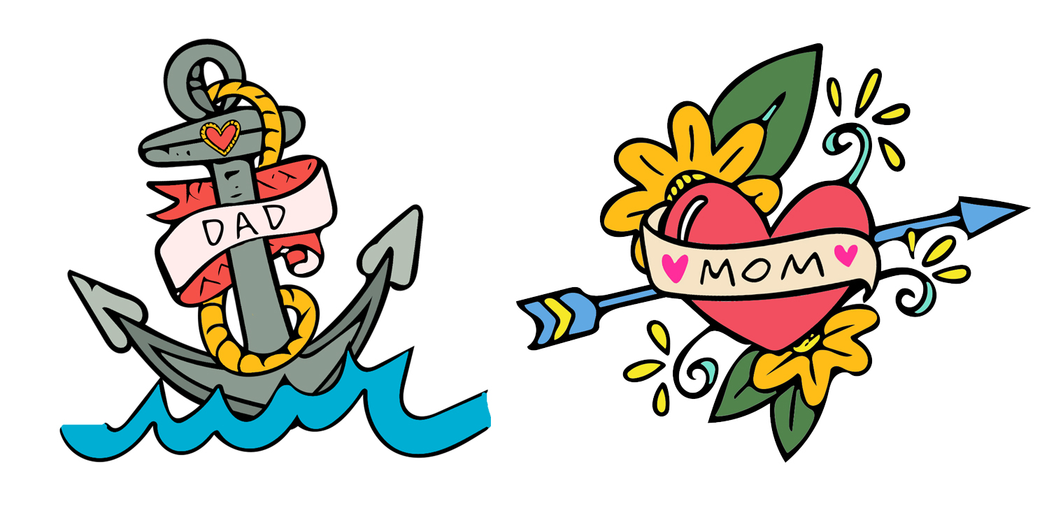 Look for these babes on an upcoming Mother's & Father's Day set of greeting cards!