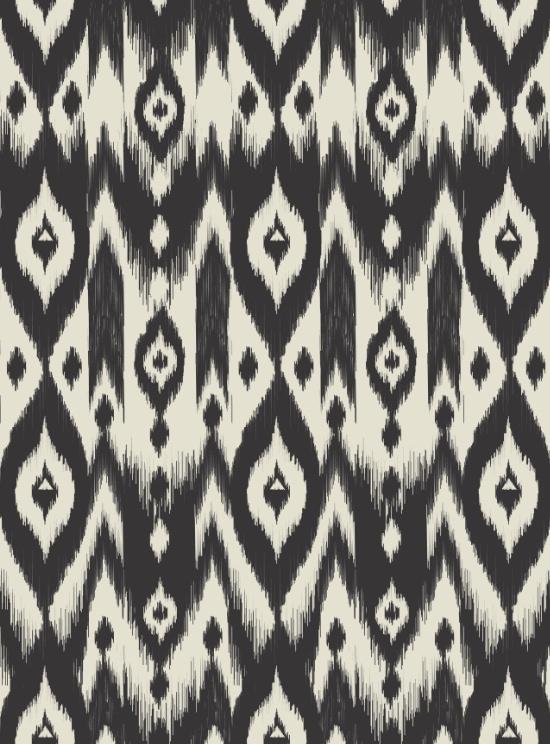 "Bohemian Gypsy Jane ""Black + Cream Tribal Ikat"""