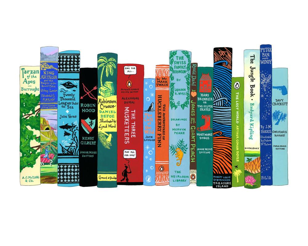 """Ideal Bookshelf 670: Adventures"" Jane Mount"