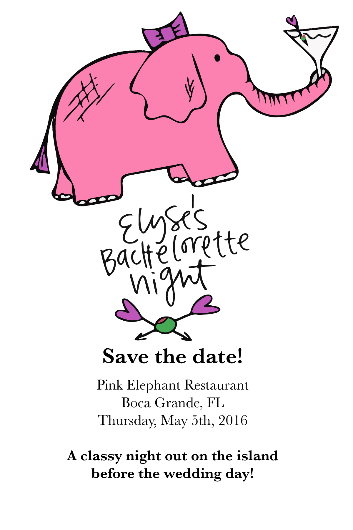 A save the date we didn't end up using for Elyse's big party. But it's too cute to leave out!