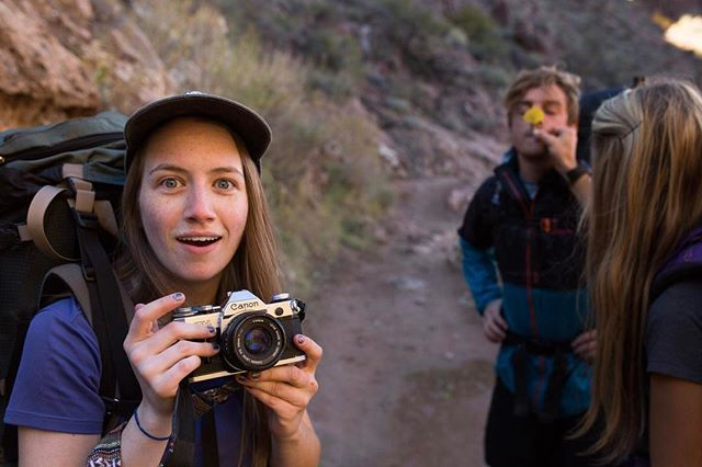 Dad hats and film cameras. 👻 #grandcanyoncompanions